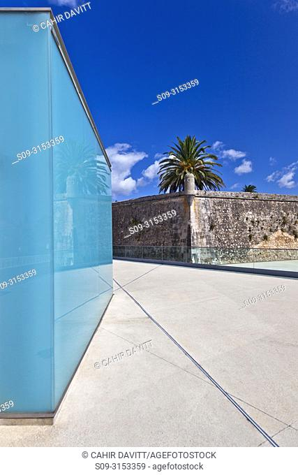 The walls of the old fort of Cascais, now converted into the Pousada de Cascais - Cidadela Historic Hotel designed by the architects