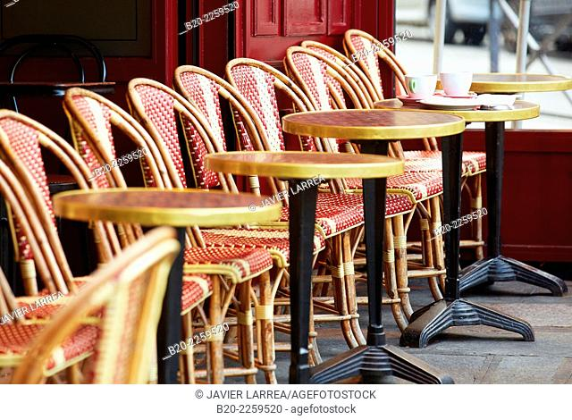 Terrace restaurant. Boulevard Saint Germain. Paris. France. Europe