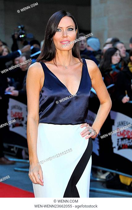 Jameson Empire Awards 2016 at the Grosvenor House in London, England. Featuring: Linzi Stoppard Where: London, United Kingdom When: 20 Mar 2016 Credit: WENN
