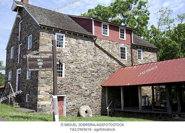 Stover-Myers Mill in Bucks County, Pennsylvanai - USA