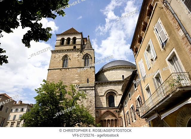 The cathedral in Cahors, Lot, France