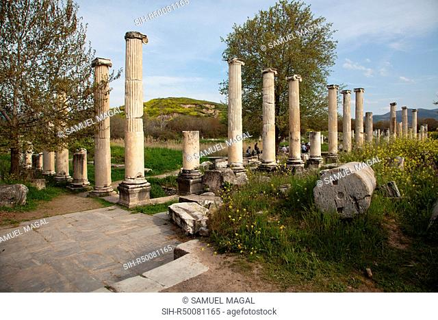 Portico of Tiberius was constructed during the reign of Emperor Tiberius 14-37 AD