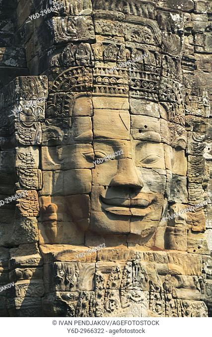 Faces, The Bayon, Angkor Thom, Cambodia
