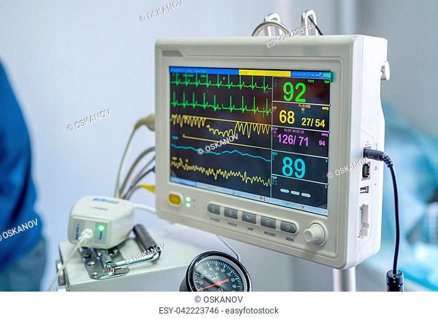 Control panel of modern veterinary anesthesia machine