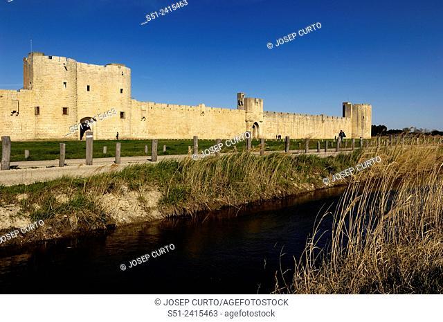 walls of Aigues-Mortes, France