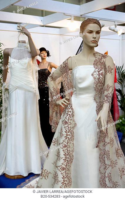Wedding dresses. Ficoba, Basque Coast International Fair. Irun, Gipuzkoa, Basque Country, Spain