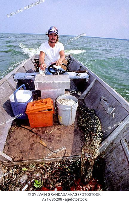 Thomas &  Emile Breaux cajun alligators hunters. Vacherie. Louisiana. USA