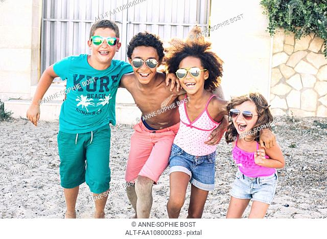 Children enjoying summer