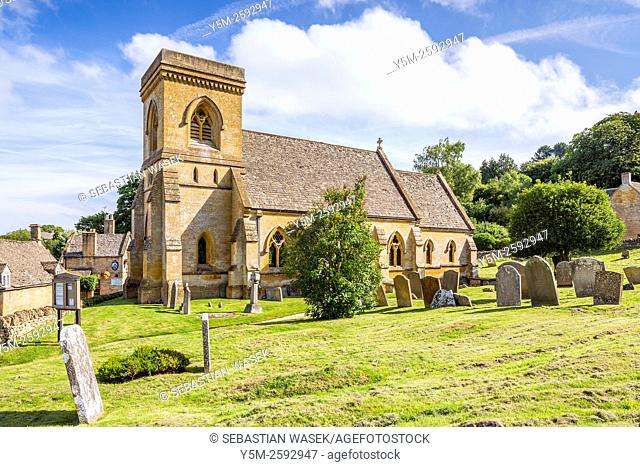 St Barnabas Church at Snowshill, Cotswolds, Gloucestershire, England, United Kingdom, Europe