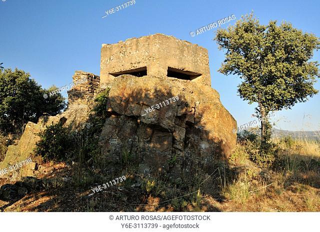 Bunker of the Spanish Civil War (1936-1939) in Gandullas, Madrid