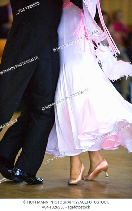 A couple at ballroom dancing, Germany, Europe