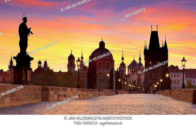 Prague - Old Town, Bridge Tower and Charles Bridge, Prague, Czech Republic, Europe, Unesco
