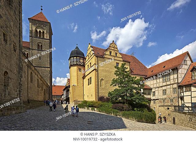 At the Schlossberg, Quedlinburg, Saxony-Anhalt, Germany