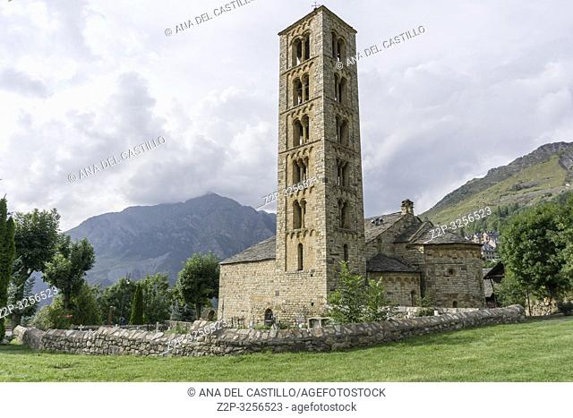 San Climent de Taull romanesque church in Taull village Bohi valley Lleida Catalunya Spain
