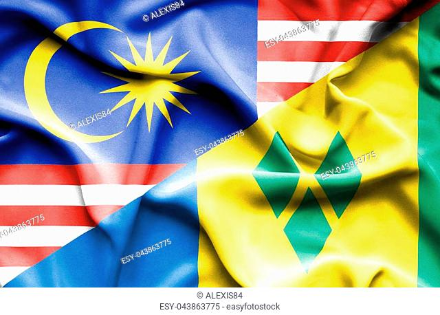 Flag of saint vincent and grenadines Stock Photos and Images