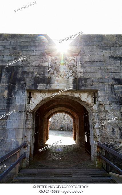 Entrance across moat to Southsea Castle