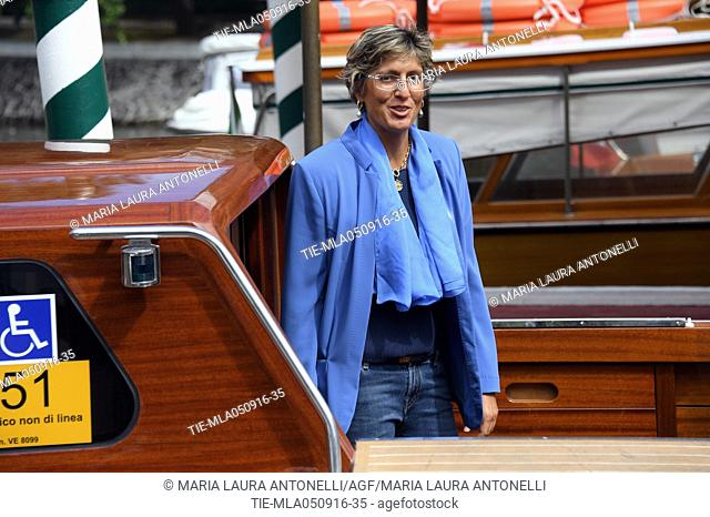 The lawyer Giulia Bongiorno arrives at Darsena of Hotel Excelsior, 73rd Venice Film Festival, Venice-ITALY-05-09-2016