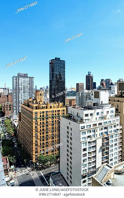Looking East at Third Avenue and East 68th Street on the Upper East Side of Manhatan, NYC