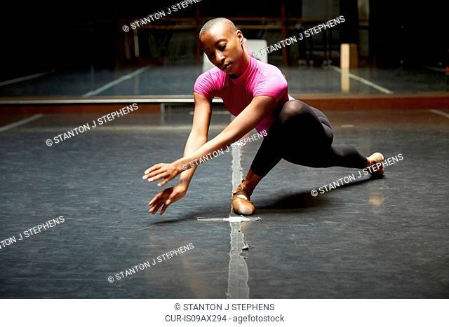 Ballet dancer in dance move