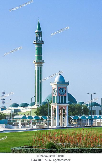Clock Tower, Doha, Grand Mosque, Qatar, Middle East, architecture, city, garden, Islamic, minaret, park, symbol, touristic, mosque