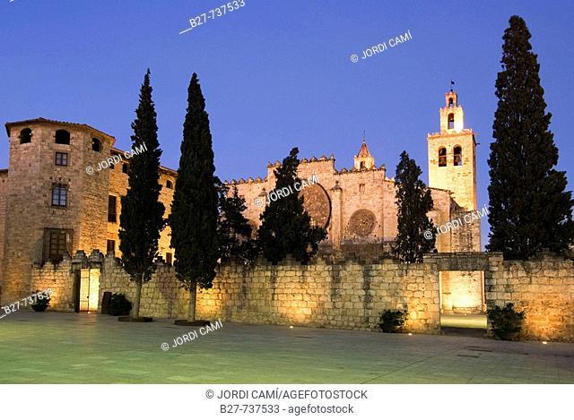 Monastery, Sant Cugat del Valles. Barcelona province, Catalonia, Spain
