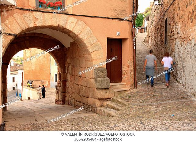 Arch of the Christ ordoor of the river,the oldest one of the wall of century I. Cáceres
