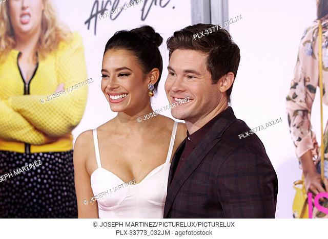 "Chloe Bridges, Adam Devine at Warner Bros. Pictures' """"Isn't It Romantic"""" Premiere held at The Ace Hotel in Los Angeles, CA, February 11, 2019"