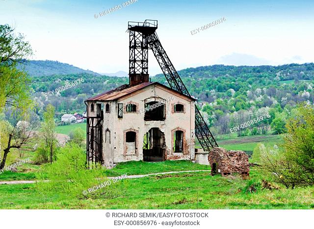 old mining tower near Resavica, Serbia