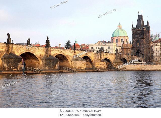 bridge Karluv Most, in Prague
