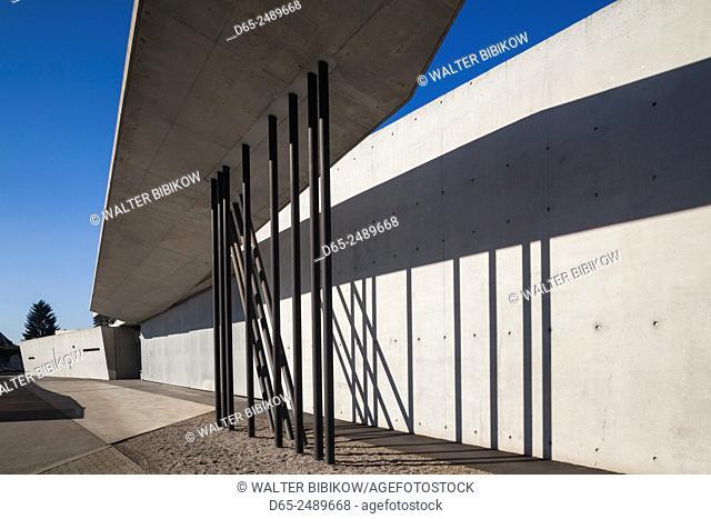 Germany, Baden-Wurttemburg, Weil am Rhein, Vitra Architectural Design Campus, Fire Station, Zaha Hadid, 1993, exterior