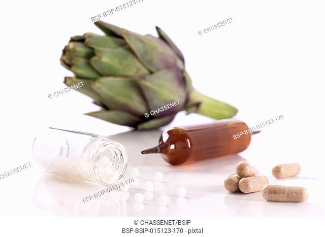 Artichoke leaf extract capsules
