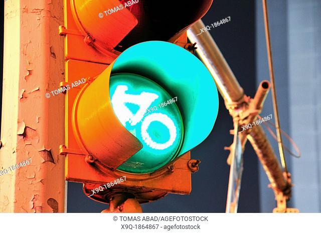 Traffic Lights, 42nd Street, Broadway, Times Square, Manhattan, New York City, USA