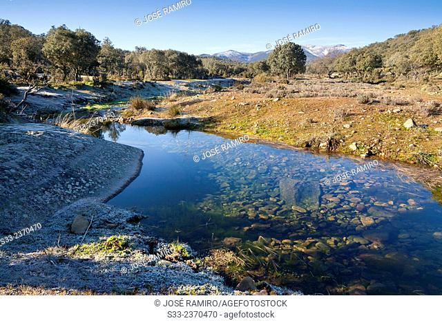 Gimena stream in Navahermosa. Toledo. Castilla la Mancha. Spain. Europe