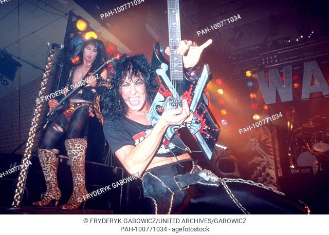 """""""""""W.A.S.P."""", amerikanische Metalband, beim Konzert in München, Deutschland 1984. American metal band """"W.A.S.P."""" performing live at Munich, Germany 1984"