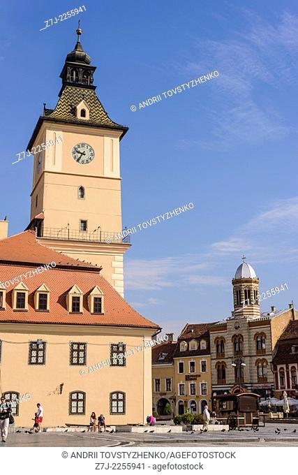 main square in Brasov,Romania