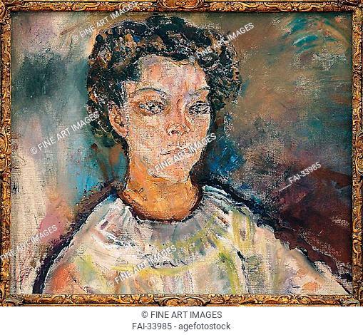 Portrait of Tilla Durieux by Kokoschka, Oskar (1886-1980)/Oil on canvas/Expressionism/1910/Austria/Private Collection/Portrait/Painting/Porträt von Tilla...