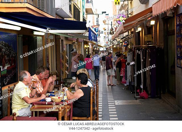 Mairo Street, Roses, Costa Brava. Girona, Catalunya, Spain