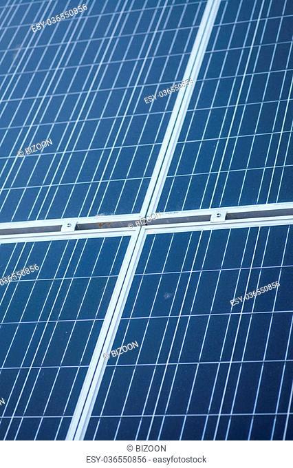Color detail of some blue solar panels