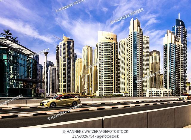 Skyscrapers at Dubai Marina, Dubai, UAE