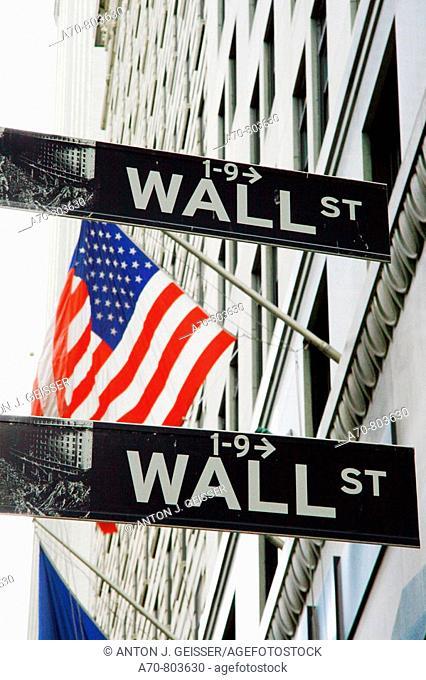 USA, New York City, Wall Street