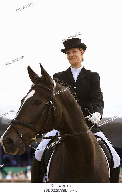 portrait of female dressage rider