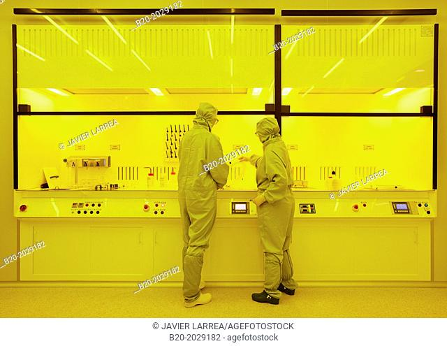 Photolithography. Cleanroom. Technology Center. Donostia. San Sebastian. Gipuzkoa. Basque Country. Spain