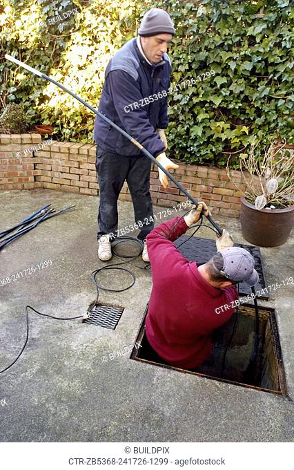 Drain investigation on domestic property. UK