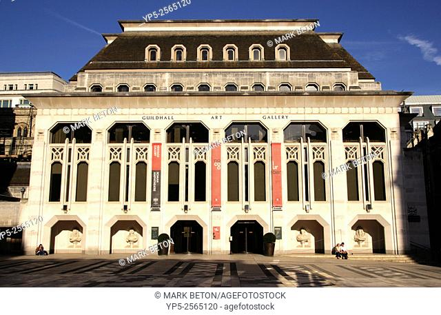 Guildhall art Gallery in the City of London England