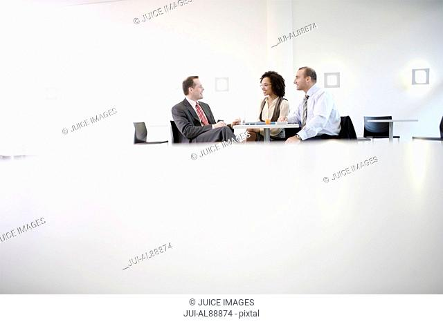 Businesspeople having meeting