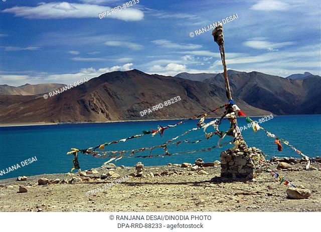 Pangaong Lake in Leh , Ladakh , Jammu and Kashmir , India