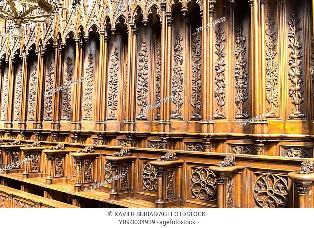 Interior and Choir Stalls of Dominican Church of the Holy Trinity, Krakow, Poland