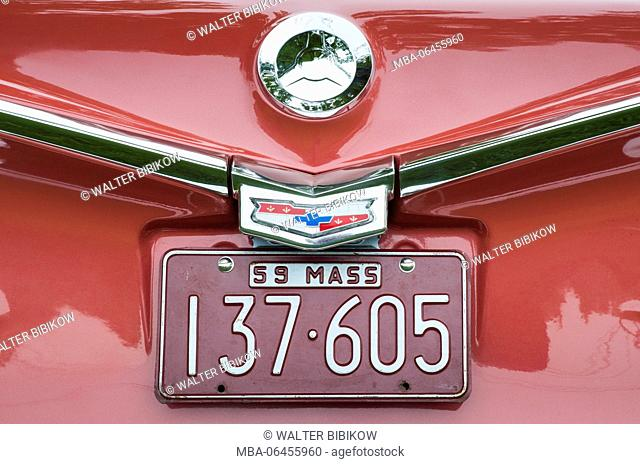 USA, Massachusetts, Beverly Farms, antique cars, 1950s Chevrolet El Camino