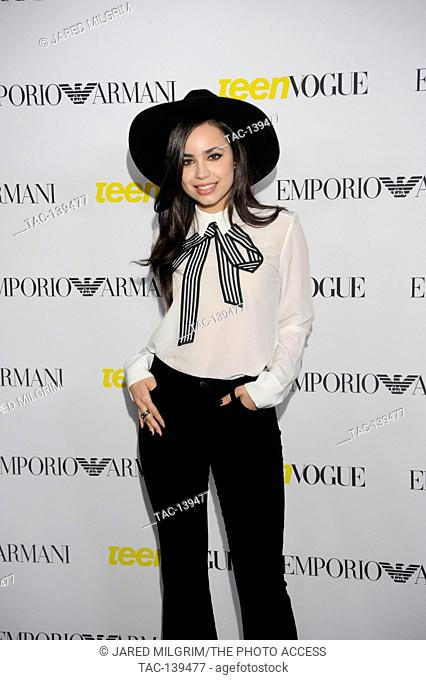 Sofia Carson attends the Teen Vogue Young Hollywood Issue Party on October 2nd, 2015 in Beverly Hills, California