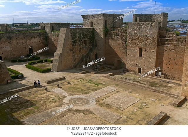 Castle of the Guzmanes - 15th century, Niebla, Huelva province, Region of Andalusia, Spain, Europe